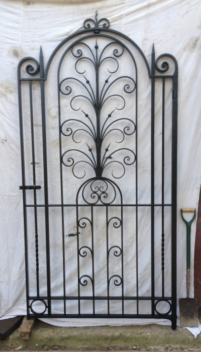Traditional wrought iron side gate