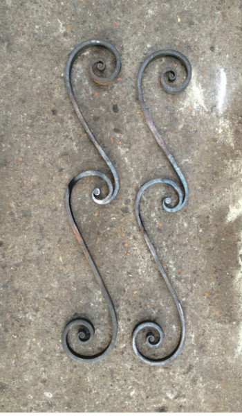 forge welded scrolls